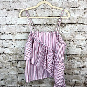 NEW ABOUND SLEEVELESS WOMENS SZ LARGE STRIPED TOP